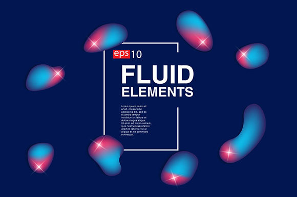 Isolated Fluid Set for Background Graphic By apple