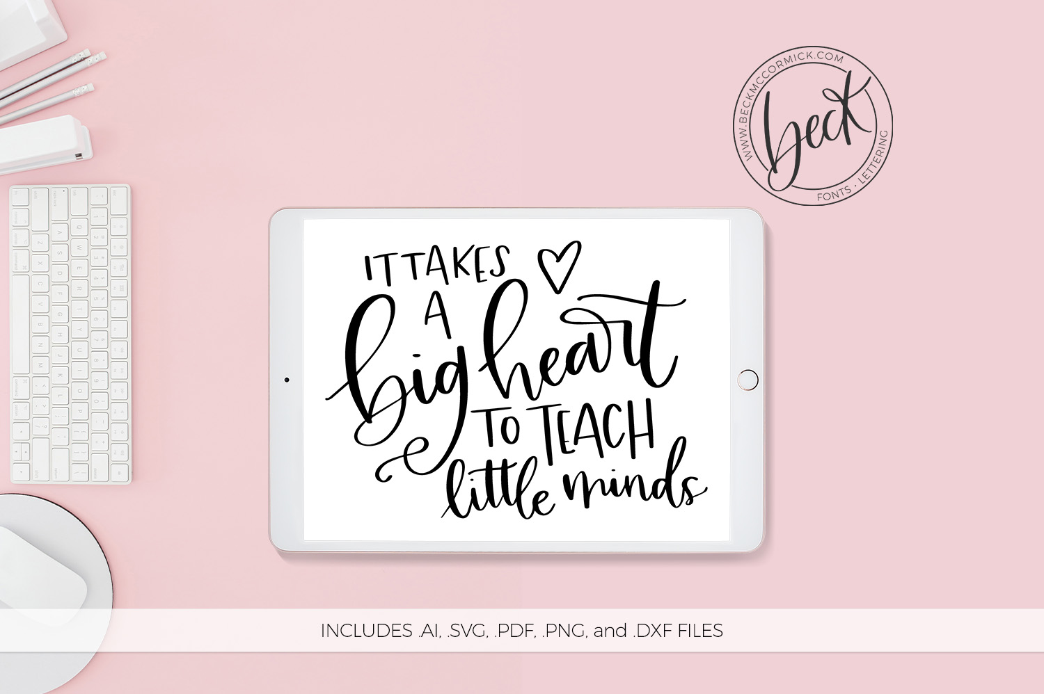 Download Free It Takes A Big Heart Graphic By Beckmccormick Creative Fabrica for Cricut Explore, Silhouette and other cutting machines.
