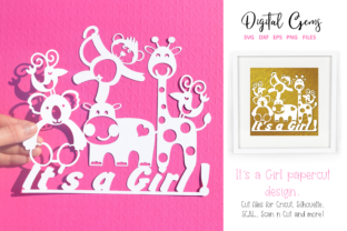 It's a Girl Papercut Design Graphic By Digital Gems