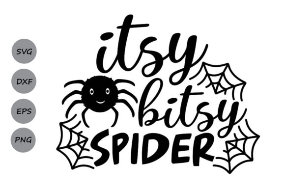 Download Free Itsy Bitsy Spider Graphic By Cosmosfineart Creative Fabrica for Cricut Explore, Silhouette and other cutting machines.