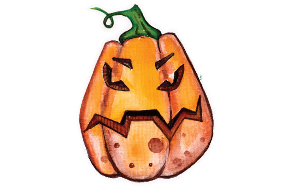 Jack O Lantern in Watercolor Halloween Craft Cut File By Creative Fabrica Crafts