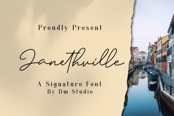 Print on Demand: Janethville Script & Handwritten Font By dmletter31 - Image 1