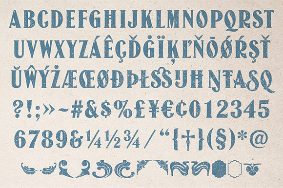 Print on Demand: Jason Capitals Display Font By TypeFaithFonts - Image 5