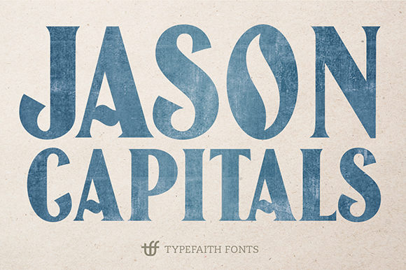 Print on Demand: Jason Capitals Display Font By TypeFaithFonts - Image 1