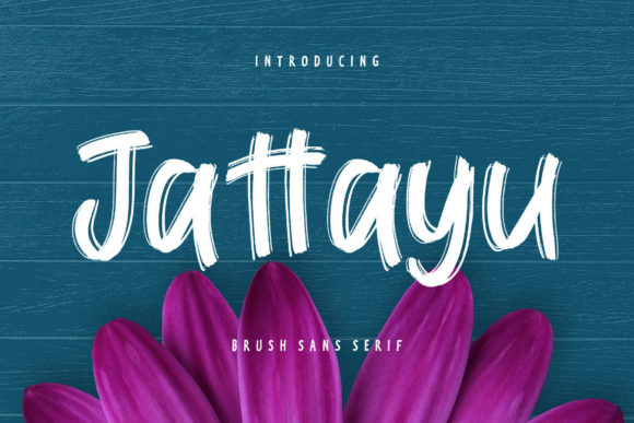 Print on Demand: Jattayu Display Font By CreatypeStudio