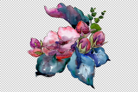 Print on Demand: Jenny Flowers Bouquet Watercolor Graphic Illustrations By MyStocks - Image 2