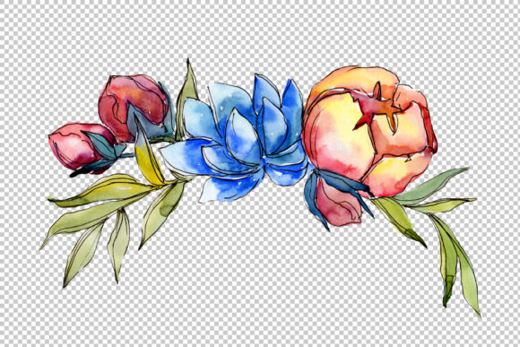 Print on Demand: Jenny Flowers Bouquet Watercolor Graphic Illustrations By MyStocks - Image 4