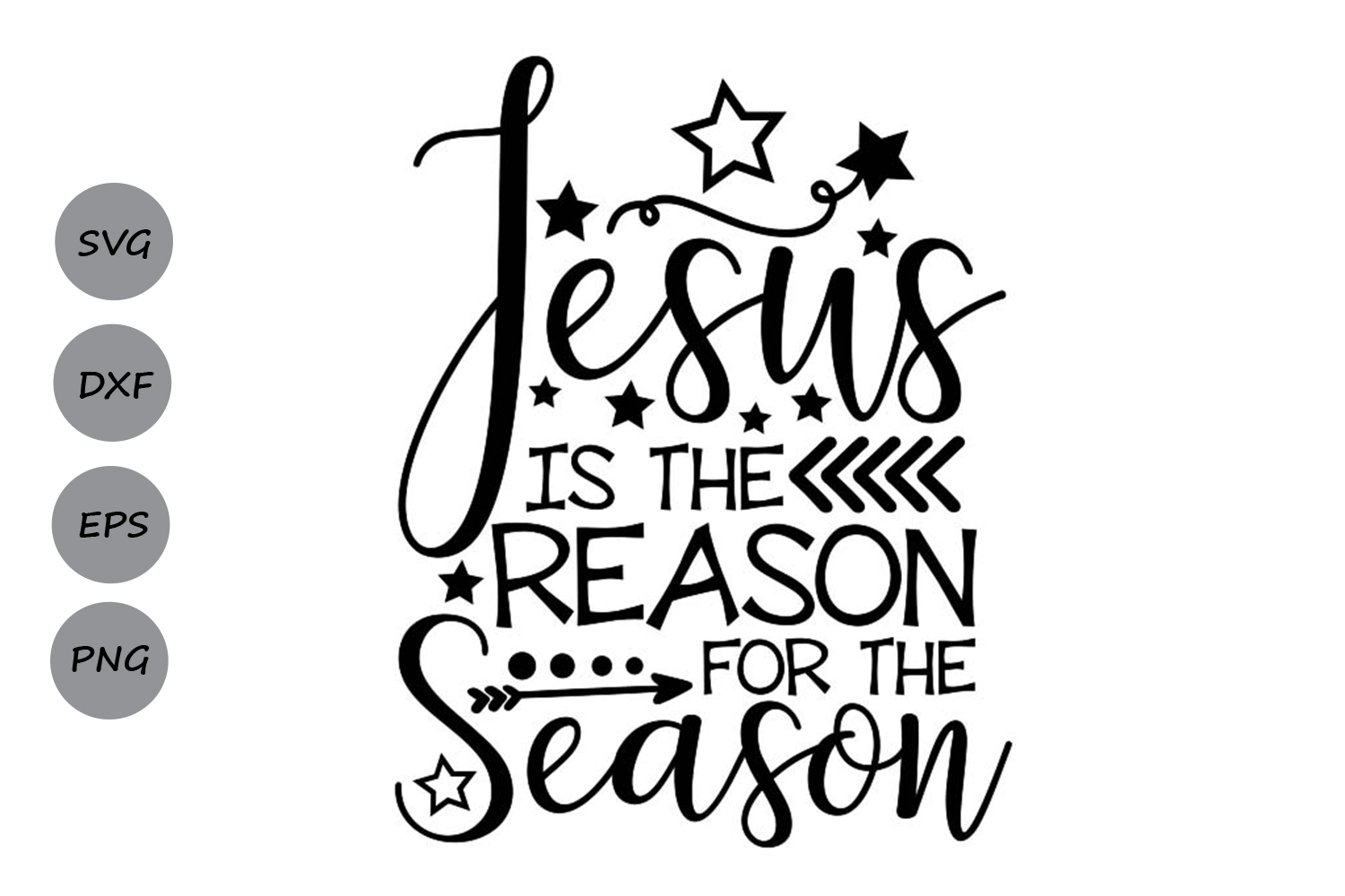 Download Free Jesus Is The Reason For The Season Graphic By Cosmosfineart for Cricut Explore, Silhouette and other cutting machines.