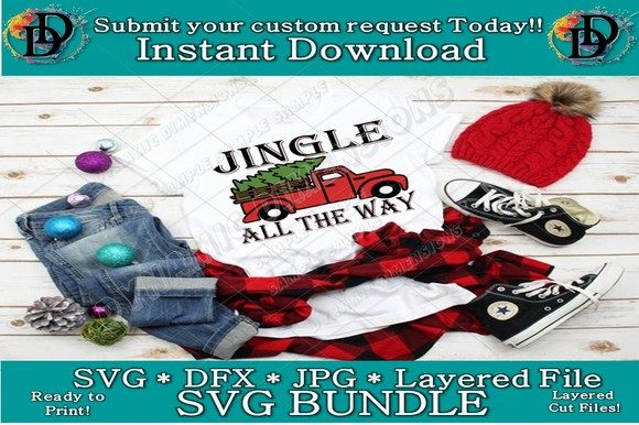 Print on Demand: Jingle All the Way Graphic Crafts By dynamicdimensions - Image 1