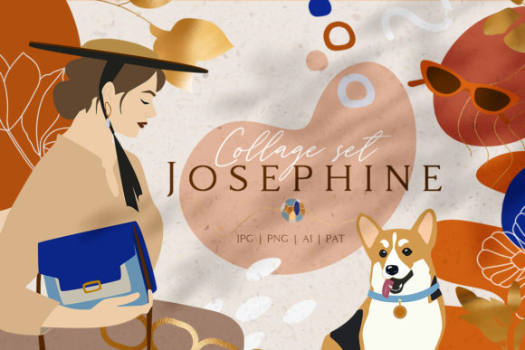 Josephine Collage Set Graphic Illustrations By NassyArt
