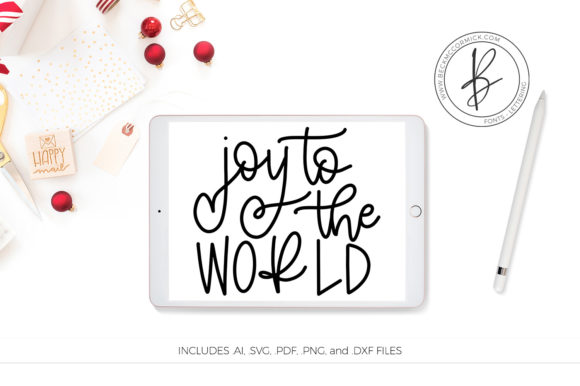 Download Free Joy To The World Graphic By Beckmccormick Creative Fabrica for Cricut Explore, Silhouette and other cutting machines.