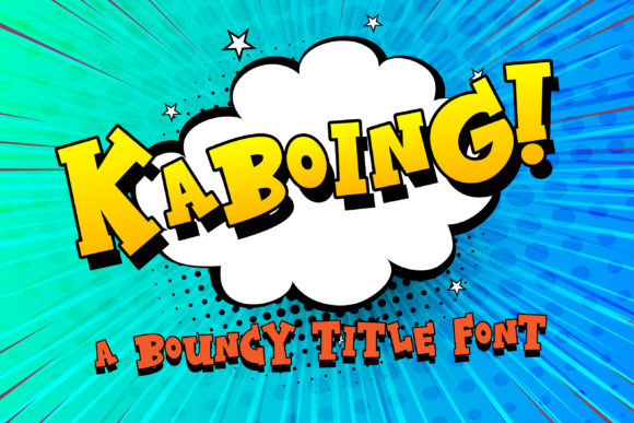 Print on Demand: Kaboing Display Font By Illustration Ink