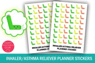 Kawaii Inhaler Planner Stickers-Health Graphic By Happy Printables Club