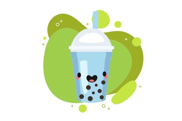Kawaii Bubble Tea Food & Drinks Craft Cut File By Creative Fabrica Crafts