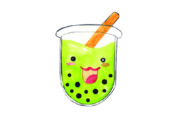 Download Free Kawaii Bubble Tea Green Svg Cut File By Creative Fabrica for Cricut Explore, Silhouette and other cutting machines.