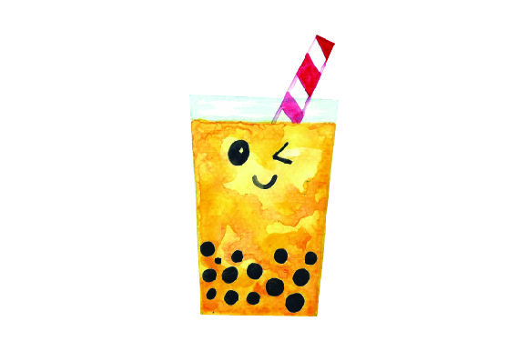 Download Free Kawaii Bubble Tea Yellow Svg Cut File By Creative Fabrica for Cricut Explore, Silhouette and other cutting machines.