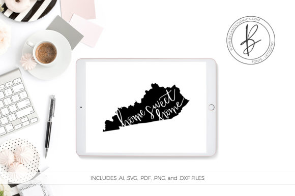 Download Free Kentucky Home Sweet Home Graphic By Beckmccormick Creative Fabrica for Cricut Explore, Silhouette and other cutting machines.