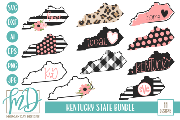 Kentucky State Bundle Graphic Crafts By Morgan Day Designs