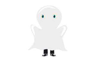 Kid Dressed As Ghost Halloween Craft Cut File By Creative Fabrica Crafts