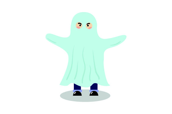 Download Free Kid Dressed As Ghost Halloween Svg Cut File By Creative for Cricut Explore, Silhouette and other cutting machines.