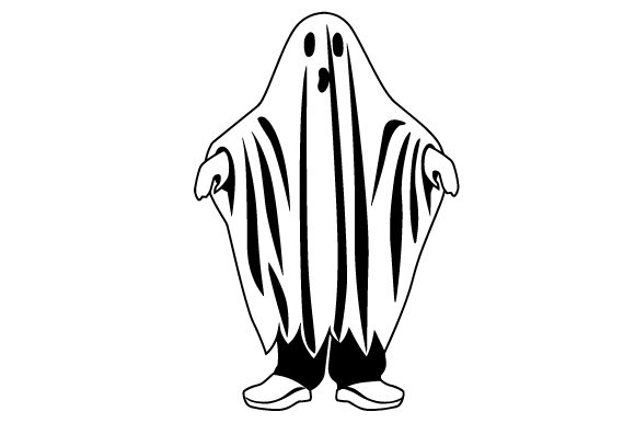 Kid Dressed As Ghost Halloween Craft Cut File By Creative Fabrica Crafts - Image 2