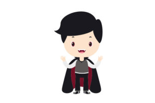 Kid Dressed As Vampire Halloween Craft Cut File By Creative Fabrica Crafts