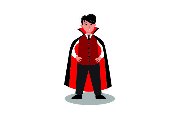 Download Free Kid Dressed As Vampire Halloween Svg Cut File By Creative for Cricut Explore, Silhouette and other cutting machines.