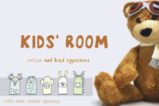 Kids' Room Display Font By Primafox Design