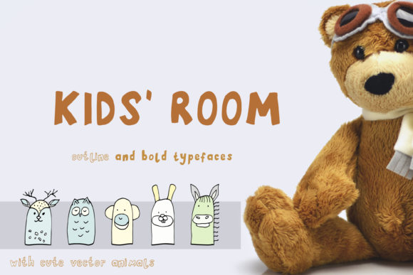 Print on Demand: Kids' Room Display Font By Primafox Design