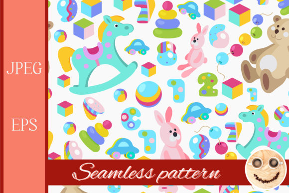 Download Free Kids Toys Colorful Seamless Pattern Graphic By Tasipas SVG Cut Files