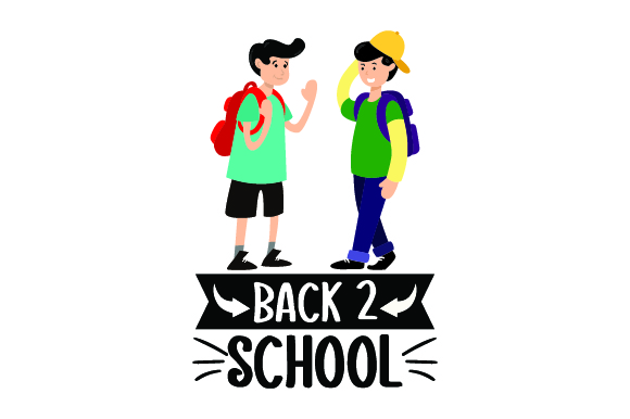 Download Free Kids With Backpacks Back To School Svg Plotterdatei Von for Cricut Explore, Silhouette and other cutting machines.