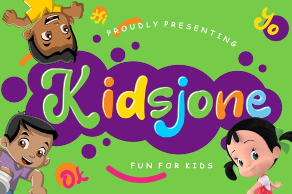 Print on Demand: Kidsjone Display Schriftarten von CreatypeStudio