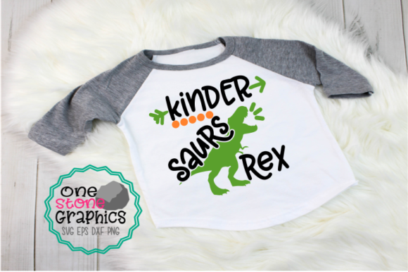 Kinder Saurs Rex Graphic Crafts By OneStoneGraphics