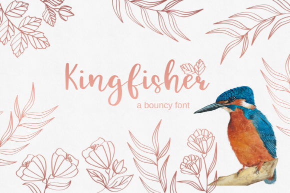 Print on Demand: Kingfisher Script & Handwritten Font By Primafox Design