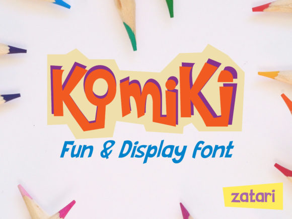 Print on Demand: Komiki Display Font By tarymeutia.s