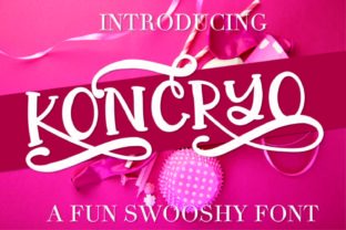 Koncryo Display Font By Justina Tracy