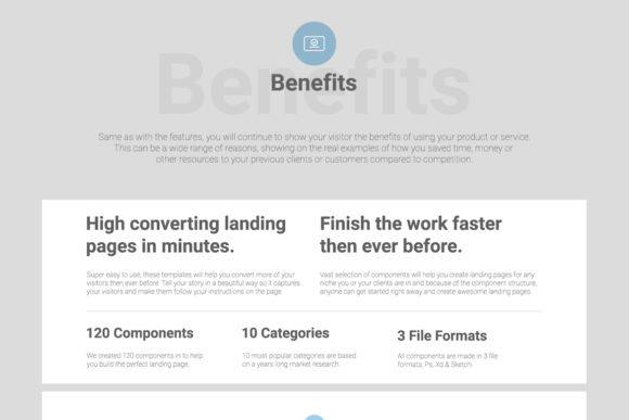 Konvert Landing Page Builder Graphic Popular Design