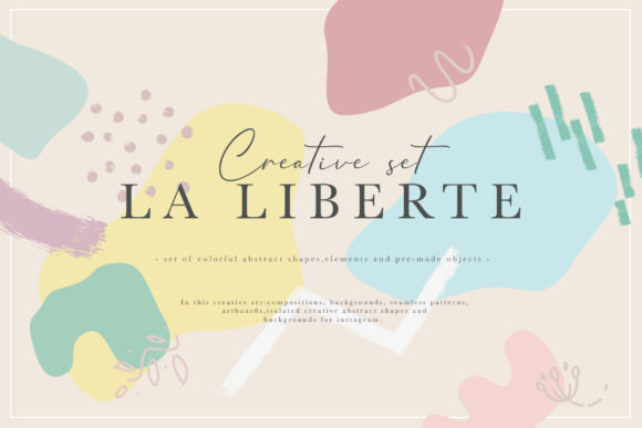 La Liberte Creative Set Graphic Print Templates By NassyArt