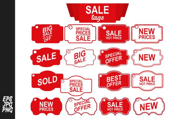 Download Free Label Tag Sale Bundle Graphic By Arief Sapta Adjie Creative for Cricut Explore, Silhouette and other cutting machines.