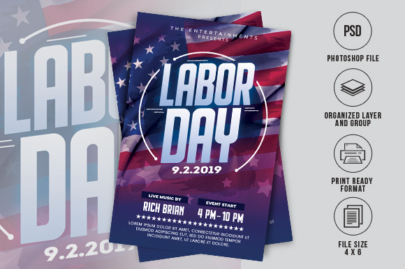 Download Free Labor Day Flyer Graphic By Ayumadesign Creative Fabrica for Cricut Explore, Silhouette and other cutting machines.