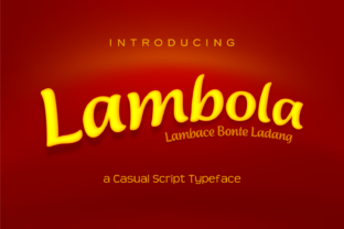 Lambola Font By Anthonie Van Hayu