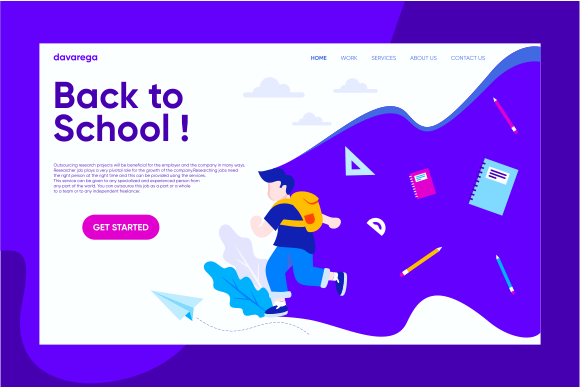 Landing Page Back to School Graphic Landing Page Templates By davaregastudio