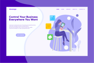 Landing Page Control Your Business Graphic By davaregastudio