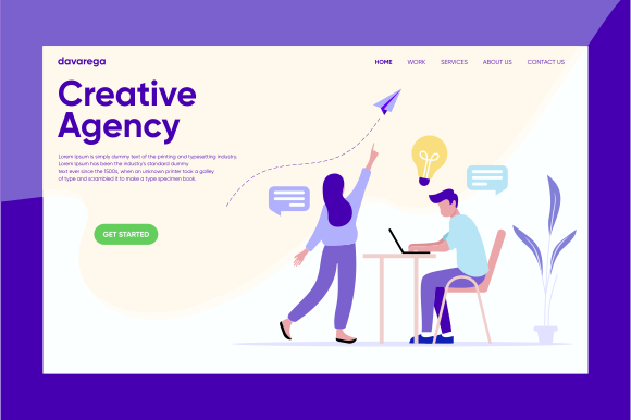 Landing Page Creative Agency Graphic Landing Page Templates By davaregastudio