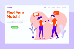 Landing Page Find Your Match Graphic By davaregastudio