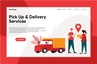 Landing Page Pick Up & Delivery Services Graphic By davaregastudio