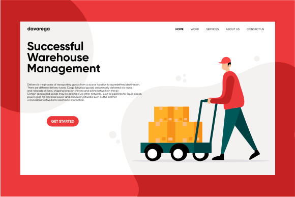 Landing Page Successful Warehouse Graphic Landing Page Templates By davaregastudio
