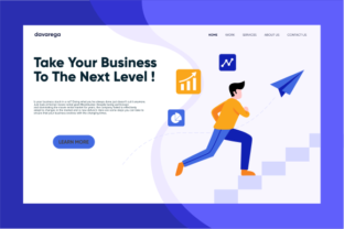 Landing Page Take Your Business Graphic By davaregastudio
