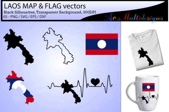 Laos Map SVG Laos Flag SVG Laos Map Graphic By Arcs Multidesigns