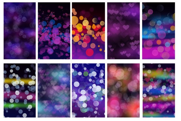 Print on Demand: Late Night Bokeh Background Collection Graphic Backgrounds By tatiana.cociorva - Image 2